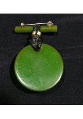 Essex Crystal Bakelite Brooch