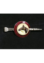 Essex Crystal Horse and Nail brooch
